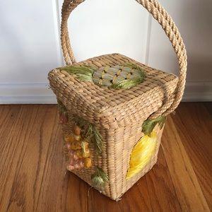 Handbags - ▪️ fruit fantasy 🍓🍐▪️vintage woven straw bag